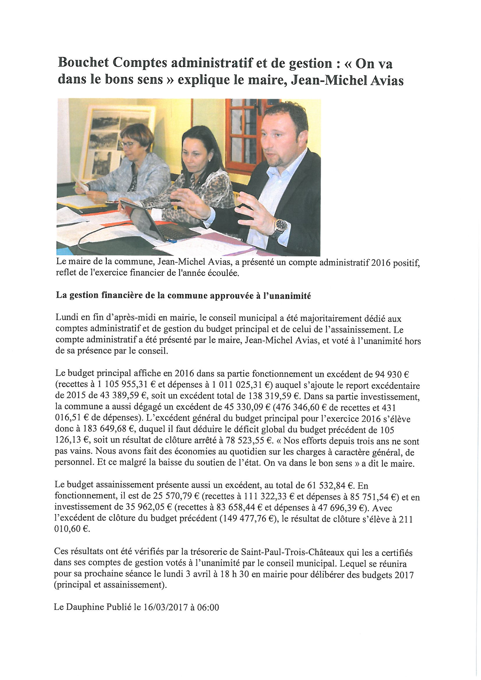 article compte administratif